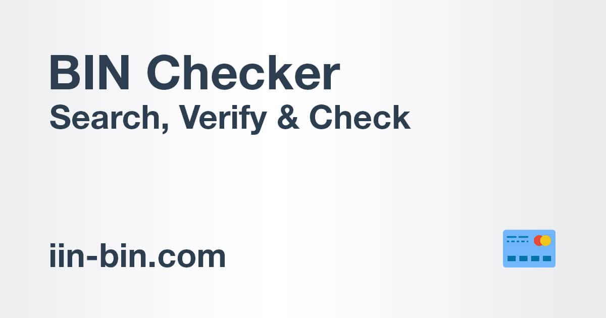 Bin Checker